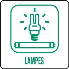 Panneaux déchetterie - Lampes - 350 x 350 mm