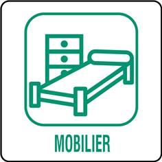 Panneaux déchetterie - Mobilier - 350 x 350 mm