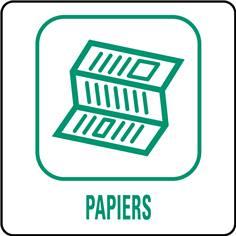 Panneaux déchetterie - Papiers - 350 x 350 mm