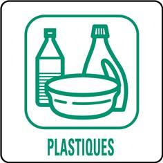 Panneaux déchetterie - Plastiques - 350 x 350 mm