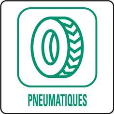 Panneaux déchetterie - Pneumatiques - 350 x 350 mm
