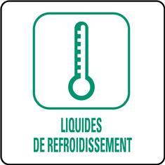 Panneaux déchetterie - Liquides de refroidissement - 350 x 350 mm