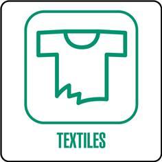 Panneaux déchetterie - Textiles - 350 x 350 mm