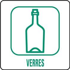Panneaux déchetterie - Verres - 350 x 350 mm