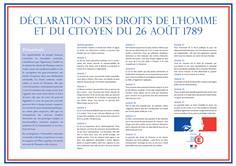 Panneau Déclaration des Droits de l´Homme - H 300 x L 420 mm