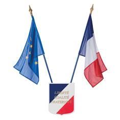Kit drapeaux et écusson Ecole - loi peillon