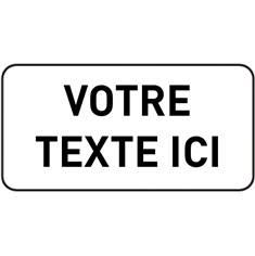Panonceau Texte Personnalisé 2 lignes