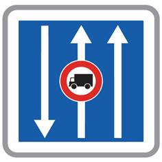 Panneau Conditions Particulières de Circulation pour les Camions - C24AEX1