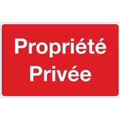 Panneau Propriété privée  - Fond rouge - H 250 x L 400 mm