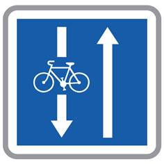 Panneau Conditions particulières pour les cyclistes - C24AEX3