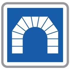 Panneau d´Indication d´Entrée d´un Tunnel - C111