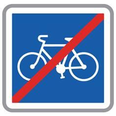 Panneau Fin d´une piste cyclable - C114