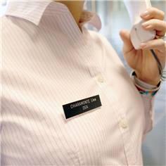 Badge Gravé avec fixation épingle