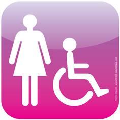 Plaque de porte Icone® - Toilettes Handicapés Femmes