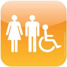 Plaque de porte Icone® - Toilettes Handicapés Hommes Femmes