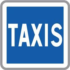 Panneau d´indication Taxis - C5