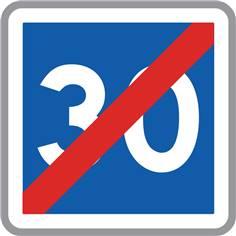 Panneau Fin de vitesse conseillée - C4b