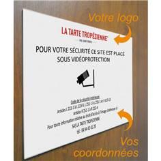 Panneau Sous vidéo protection personnalisé (bâtiment, établissement, site)