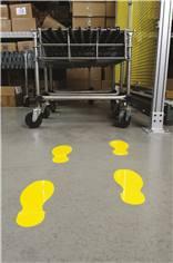 Empreintes de pas pour sol H 254 x L 89 mm - Lot de 10 pieds