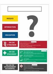Consigne de produits dangereux personnalisée en PVC - H 400 x L 300 mm