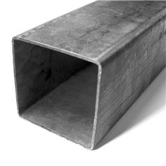 Poteau carré 80 x 80 mm en acier galva avec bouchon obsturateur