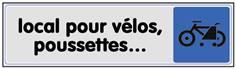Plaque plexi couleur Local Vélos et Poussettes