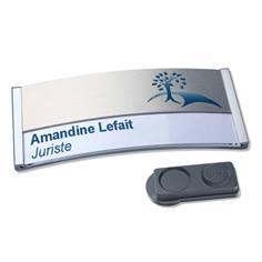 Badge en aluminium avec insertion personnalisée