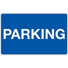 Panneau Parking - Fond bleu - H 250 x L 400 mm
