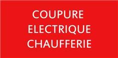 Etiquette Coupure électrique chaufferie - CH3