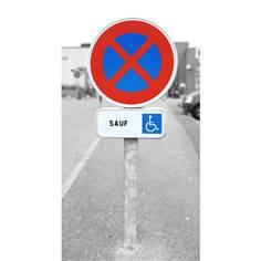 Kit de Stationnement Handicapé - panneaux et poteau