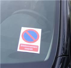 Papier Autocollant Dissuasif Rectangulaire Stationnement Interdit