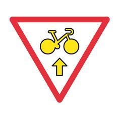 Panneau «Aller tout droit » autorisant cyclistes à franchir les feux - M12b