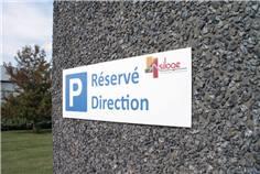 Panneau de parking personnalisé - Alu Dibond 2 mm - H 150 x L 450 mm
