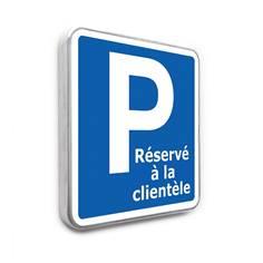 Panneau Parking réservé à la Clientèle - 350 x 350 mm - Classe 1