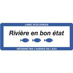 Panneau Rivière en Bon Etat