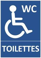 Panneau Toilettes Handicapés