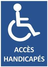 Panneau Accès Handicapés