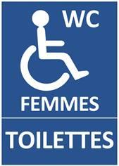 Panneau Toilettes pour Femmes Handicapées