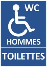 Panneau Toilettes Hommes Handicapés