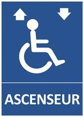 Panneau Ascenseur pour personnes handicapées