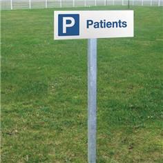 Panneau de parking pour les patients - H 150 x L 450 mm - Alu dibond 2 mm