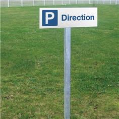 Panneau de parking pour la direction - H 150 x L 450 mm - Alu dibond 3 mm