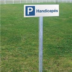 Panneau de parking handicapés - H 150 x L 450 mm - Alu dibond 2 mm