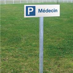 Panneau de parking médecins - H 150 x L 450 mm - Alu dibond 3 mm