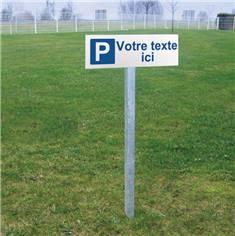 Kit de panneau de parking personnalisable en aluminium plat