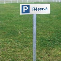 Panneau de parking réservé - H 150 x L 450 mm - Alu dibond 2 mm