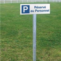 Panneau de parking réservé au personnel - H 150 x L 450 mm - Alu dibond 3 mm