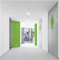 Adhésif de porte de Toilettes Femmes - Hauteur 400 mm