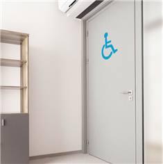 Adhésif de porte de Toilettes PMR - Hauteur 400 mm