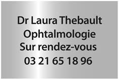 Plaque Professionnelle avec texte en relief pour les Malvoyants - Couleur Argent